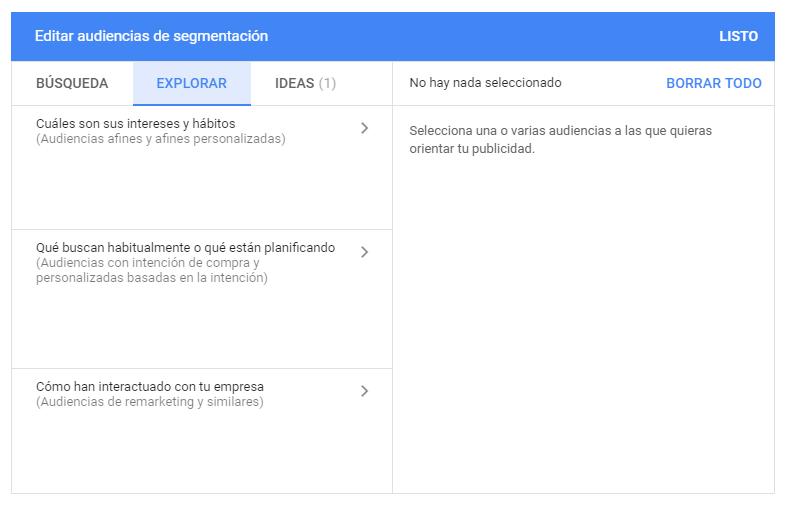 En la Google marketing Live 2019 se ha anuncio la fusión de dos de las tres audiencias de segmentación de display actuales