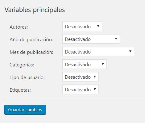 Este plugin nos permite sumar variables a nuestro estudio, como los autores del post, para evaluar su rendimiento con Tag Manager