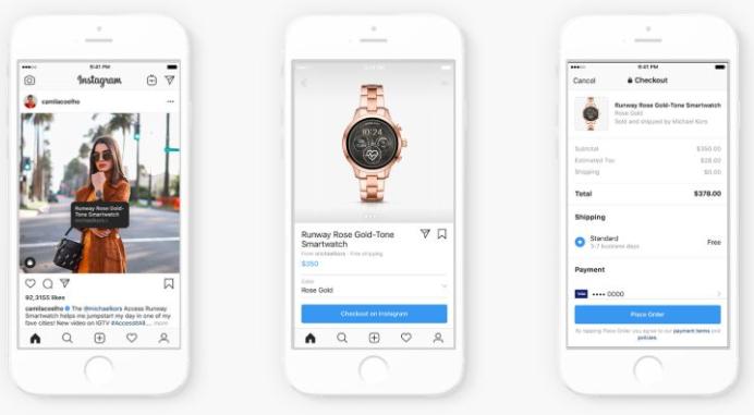 Otra de las novedades del Facebook F8 es la implementación de compra directamente desde la APP de Instagram