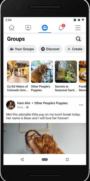 Los grupos y eventos ganarán importancia en la feed del nuevo Facebook