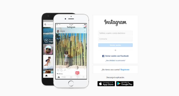 El primer paso para publicar en instagram desde pc es entrar en instagram.com