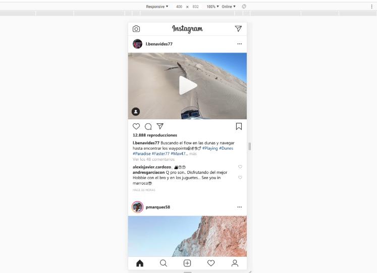 ¡Y ya está! Con la aparición del +, ya podemos publicar en instagram desde nuestro pc