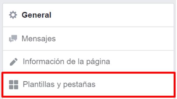 En el menú plantillas y pestañas, dentro de la Configuración de tu Fan Page, es donde podrás crear tu tienda en Facebook
