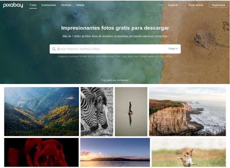 Pixabay es, seguramente, la web más famosa donde podrás descargar imágenes de gran calidad libres de derechos