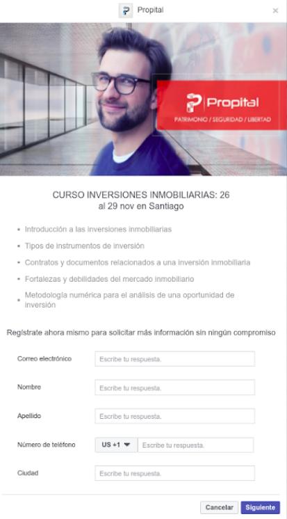Con Facebook Forms podemos conseguir formularios corporativos muy fáciles de rellenar