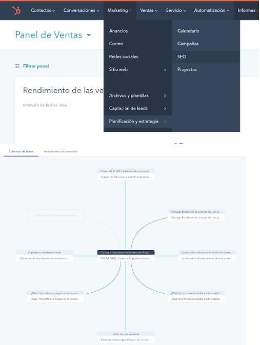 Hubspot es una de las mejores herramientas de creación de Pillar Pages, de una forma intuitiva y sencilla