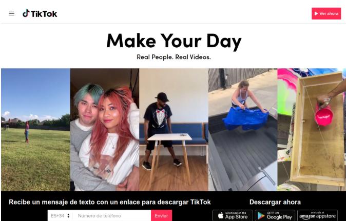 Tik Tok permite crear vídeos de 15 segundos, que podremos publicitar en 4 tipos de anuncios.