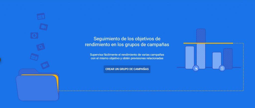 Agrupación de campañas en google ads