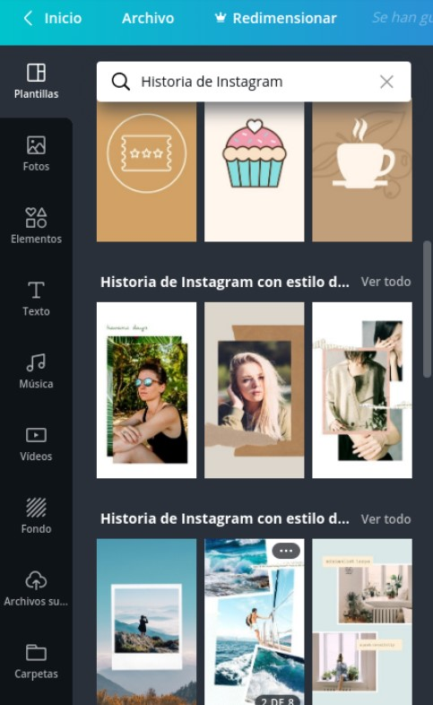 Diseños para Stories de Instagram en Canva